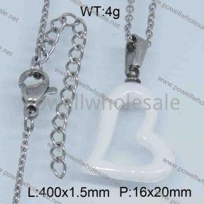 SS Ceramic Necklace  3590009bhva-676