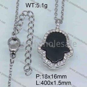 SS Ceramic Necklace  3590027vhmv-676