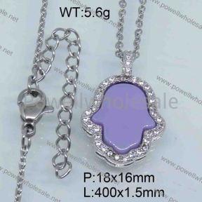 SS Ceramic Necklace  3590029vhnv-676