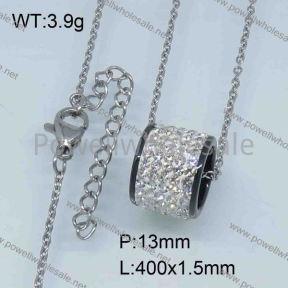SS Ceramic Necklace  3590050vhmv-676
