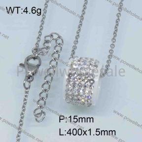 SS Ceramic Necklace  3590051vhmv-676