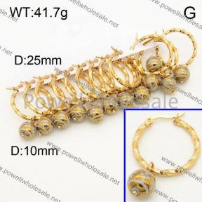 SS Earrings  3E30256bika-212