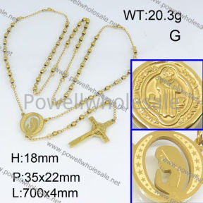 SS Necklace  3N20184bhil-692