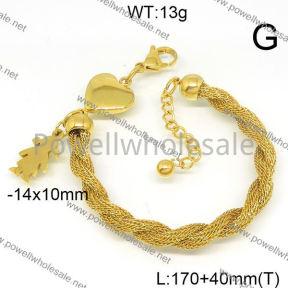 SS Bracelet  6B21007vbpb-418