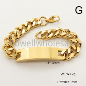SS Bracelet  6B21081vhov-240