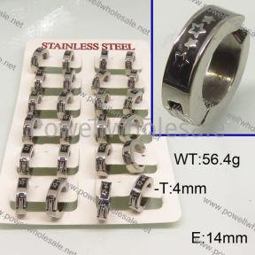 SS Earrings  6E30168ajvb-658