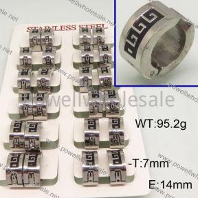 SS Earrings  6E30173ajvb-658