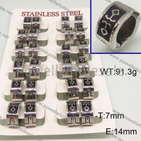 SS Earrings  6E30175ajvb-658