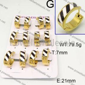 SS Earrings  6E30542ajvb-450