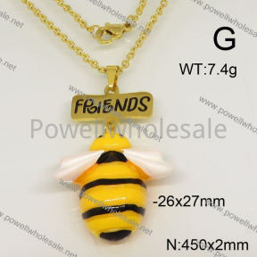 SS Necklace  6N30075bbov-628