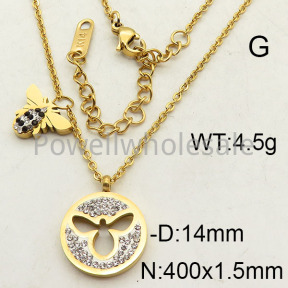 SS Necklace  6N4001560bhva-473