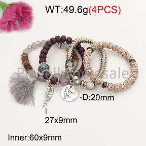 Fashion Bracelet  F3B402626bbov-K102