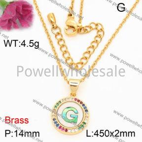Fashion Necklace  F3N40542bbov-J40