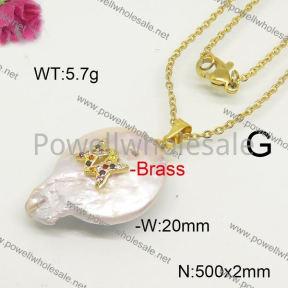 Fashion Necklace  F6N41538ahlv-J66