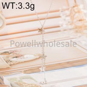 925 Silver Necklace  JN40022aijn-M113  AD0055