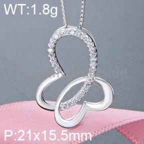 925 Silver Gravel Stone Pendant  JP10131vhkp-M112  YJBD002352
