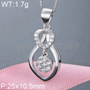 925 Silver Gravel Stone Pendant  JP10136vhov-M112  YJBD002373