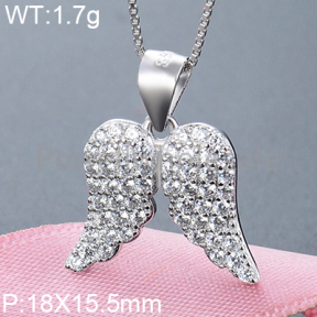 925 Silver Gravel Stone Pendant  JP10142aiip-M112  YJBD002384