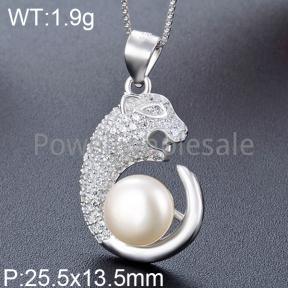 925 Silver Pearl Pendant  JP30038aikk-M112  YJBD002545