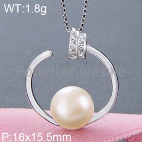 925 Silver Pearl Pendant  JP30042vhkp-M112  YJBD002541