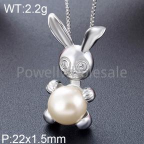 925 Silver Pearl Pendant  JP30045vhni-M112  YJBD002546