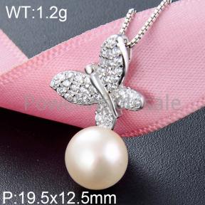 925 Silver Pearl Pendant  JP30047ahlv-M112  YJBD002548