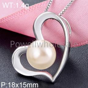 925 Silver Pearl Pendant  JP30050bhim-M112  YJBD002552