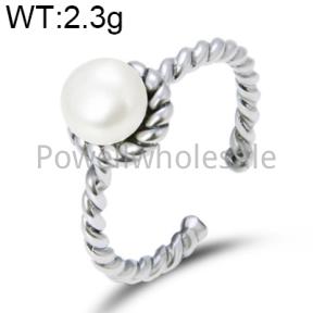 925 Silver Pearl Ring  JR30015vhnm-M112  YJ00543